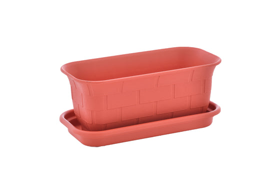 "TABOR TOOLS 10'' Mini Window Box Planter Plastic Window Box Planter, for Indoor and Outdoor Use. (10.2"", Red) ZG656A"