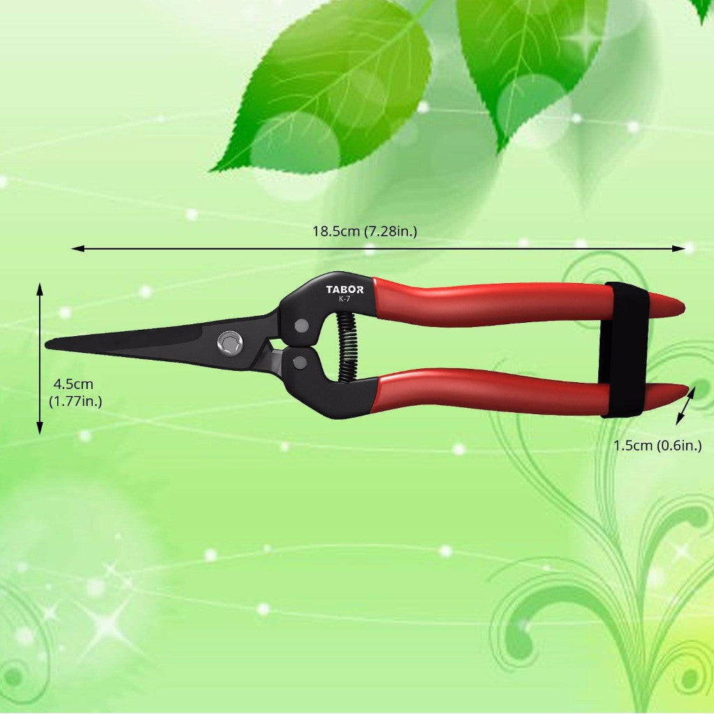 Tabor Tools K-7 Straight Pruning and Trimming Scissors