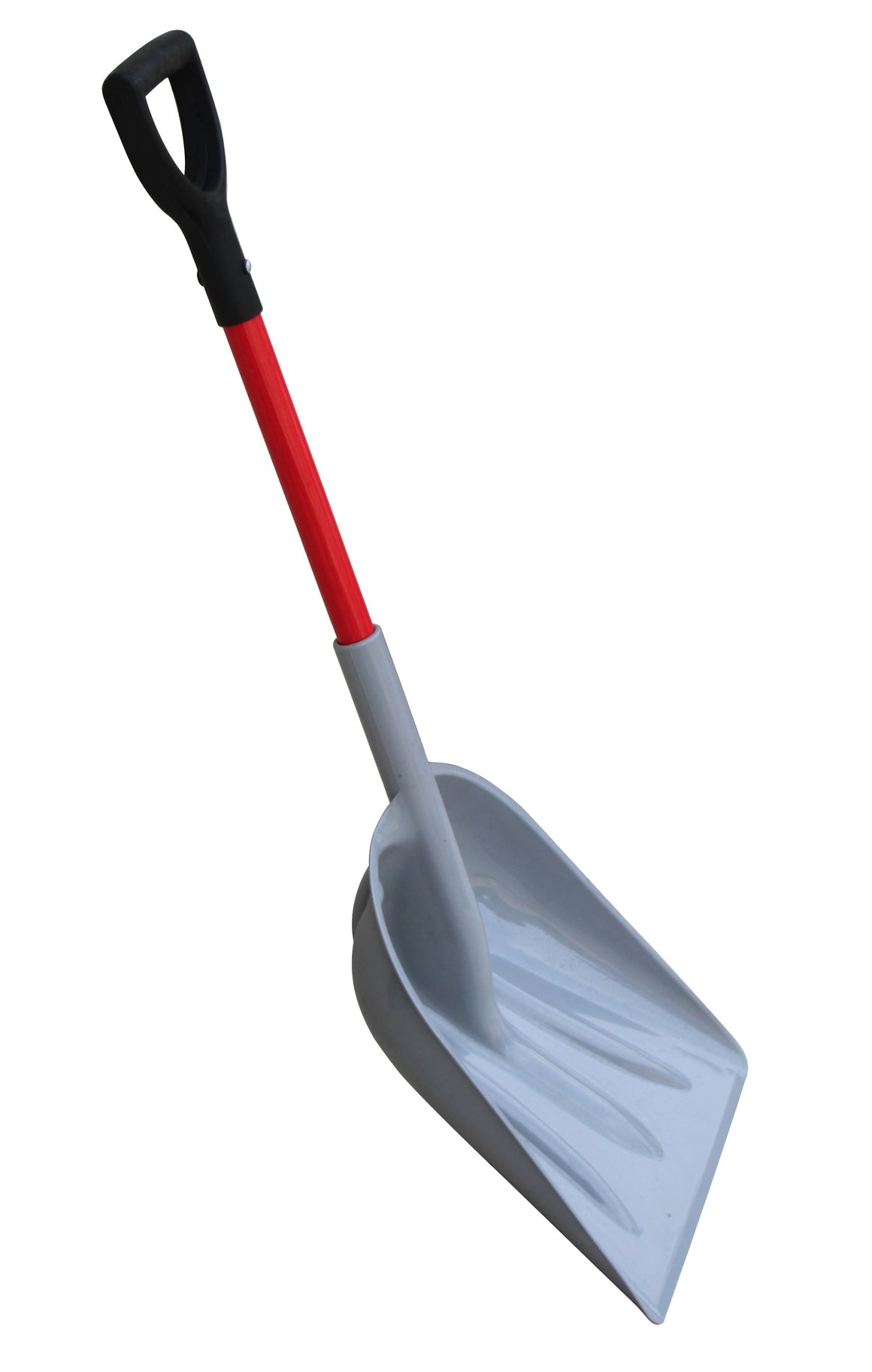 "TABOR TOOLS J218 Mulch/Snow Scoop With Strong Fiberglass Handle, Large Snow Shovel with Comfortable D-Grip 26"" Handle (Snow Shovel)"