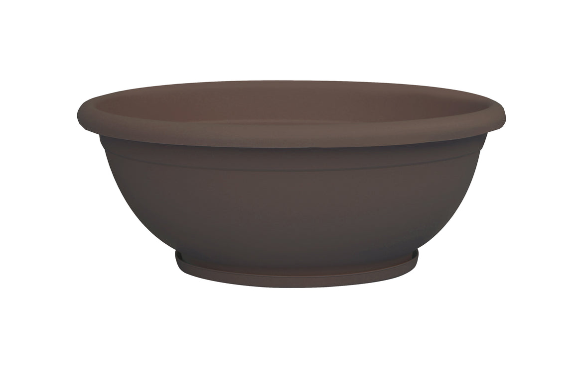 "TABOR TOOLS Plastic Planter Bowl, Garden Bowl for Indoor and Outdoor Use, Round, 16"", 5 Colors"