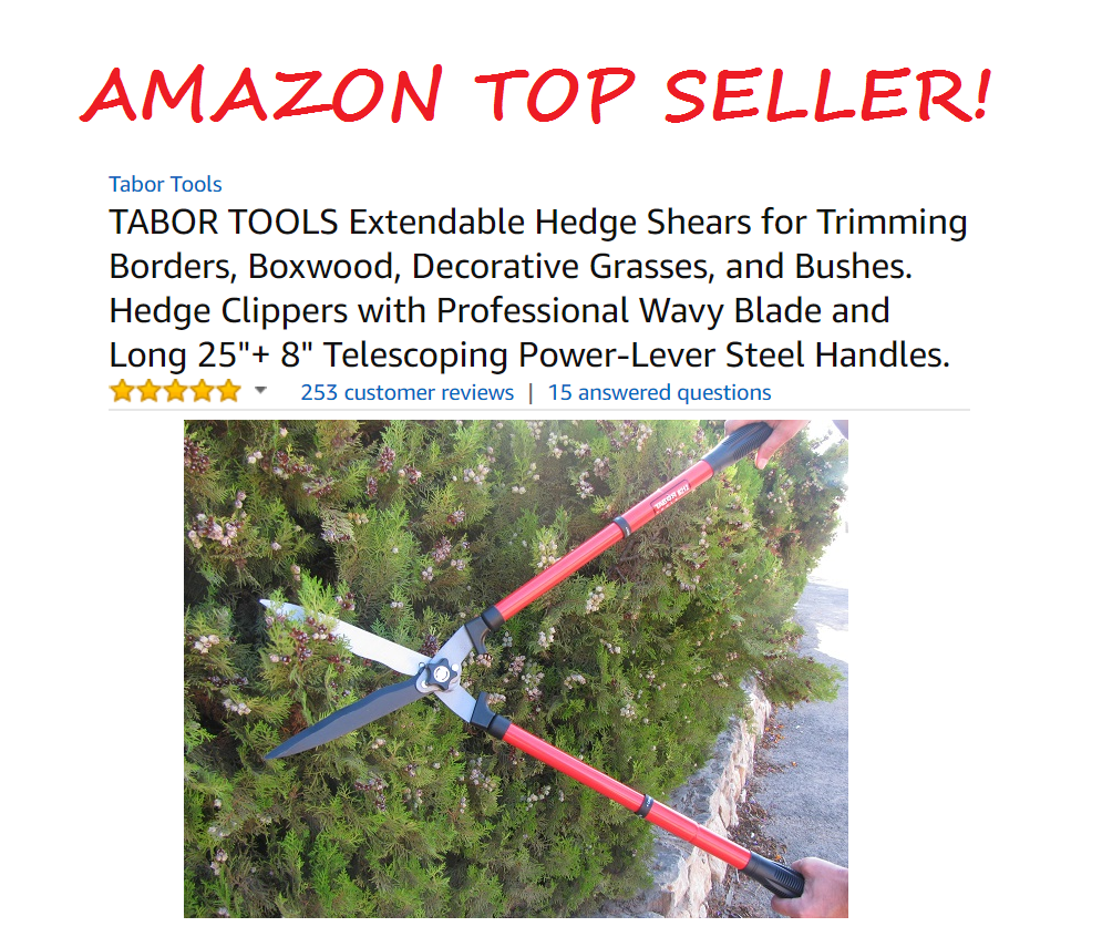Tabor Tools Hedge Shears Amazon Top Seller