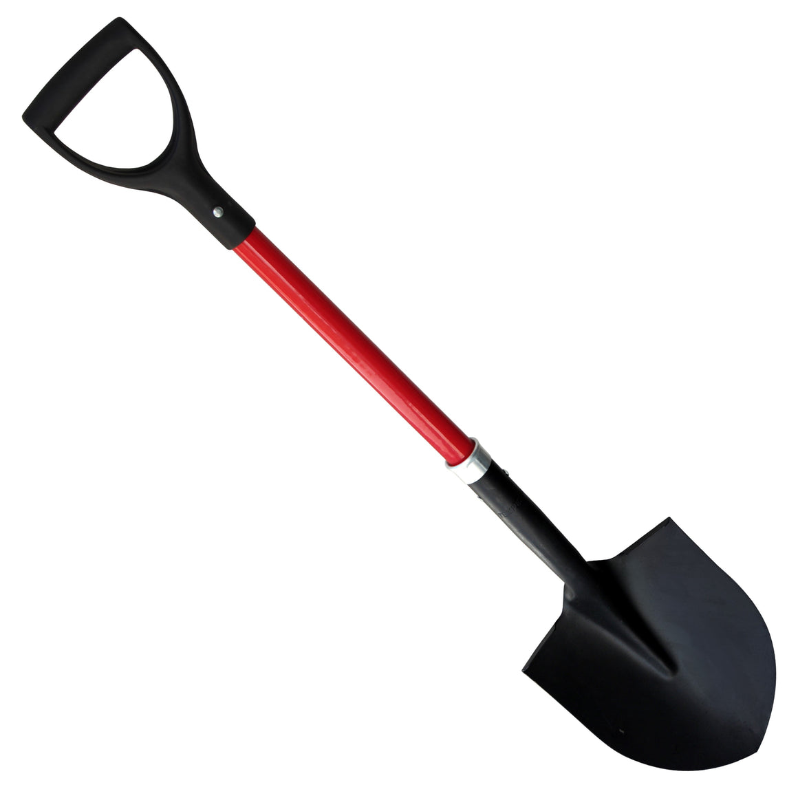 "TABOR TOOLS J201 Digging Shovel With Rounded Blade and Comfortable D-Grip 31"" Fiberglass Handle"