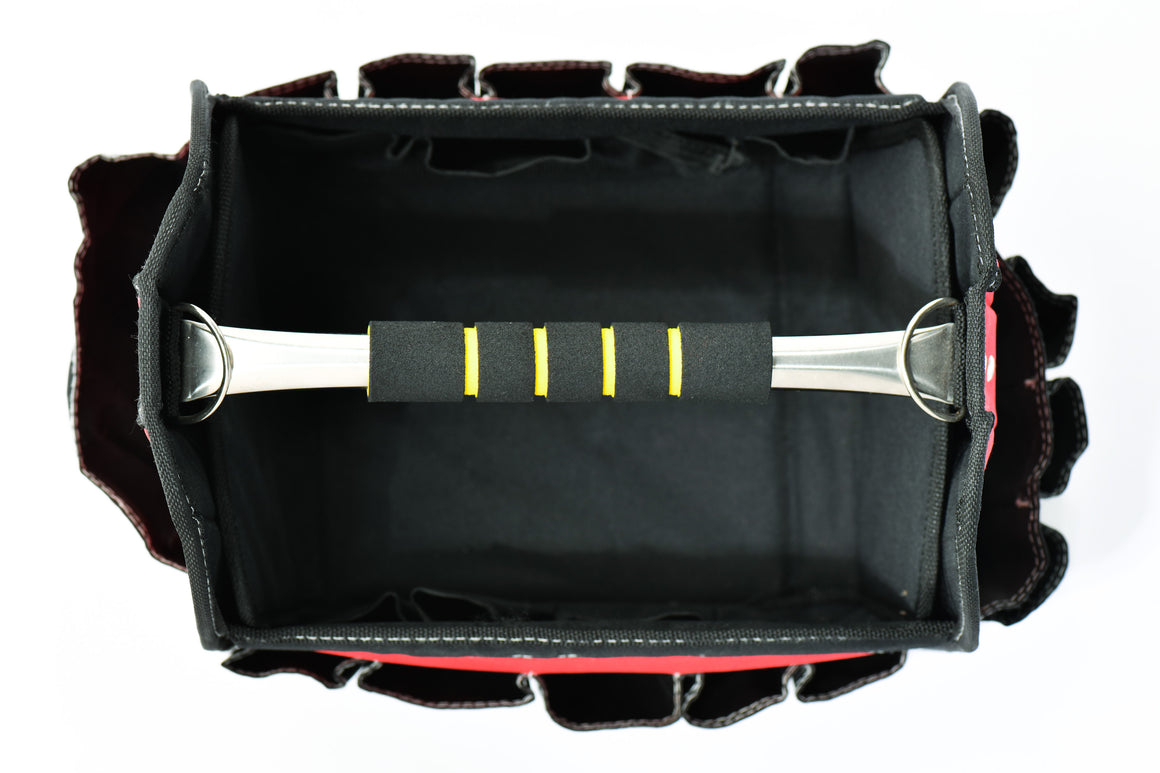 TABOR TOOLS TR3A Tool Box, Garden Tools Bag, Tool Carrier, Stiff Frame Tool Organizer, Open Top, 16 Pocket.