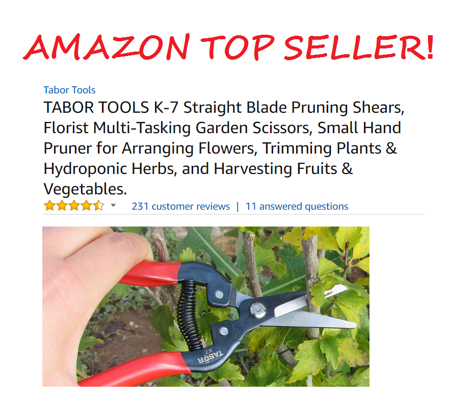 Tabor Tools Pruning Scissors Amazon Top Seller