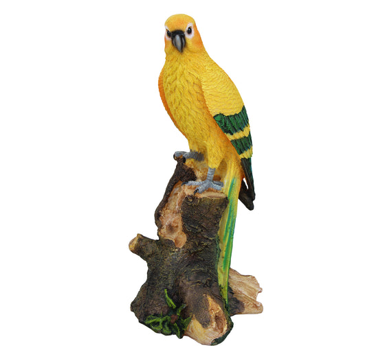 Tropical Parrot Statue Decoration, Decorative Bird Figurine, Terrace Miniature Ornament, Sculpture for Your Garden, Home or Office. DM404A