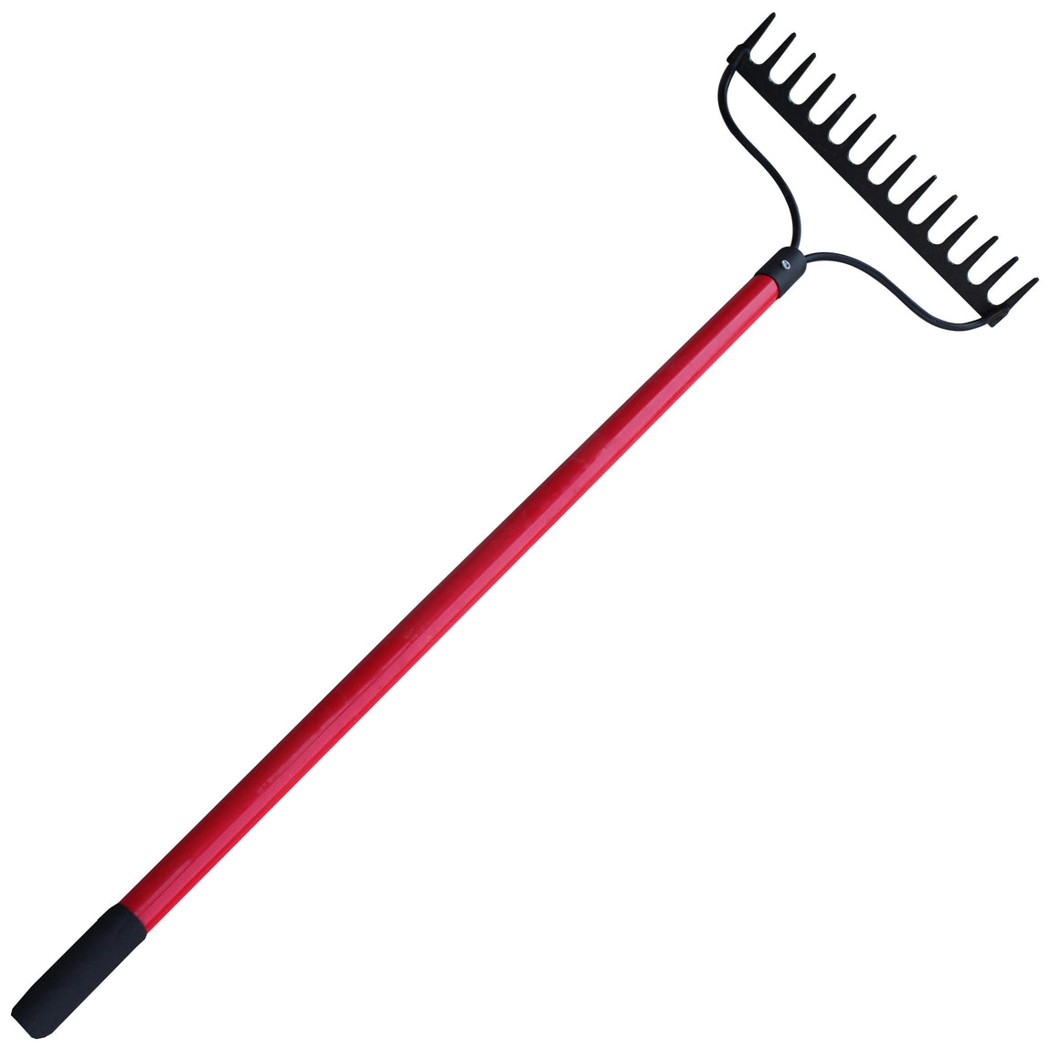 "TABOR TOOLS J205 Level Head Rake With Strong Long 54"" Fiberglass Handle, 14-Tine"