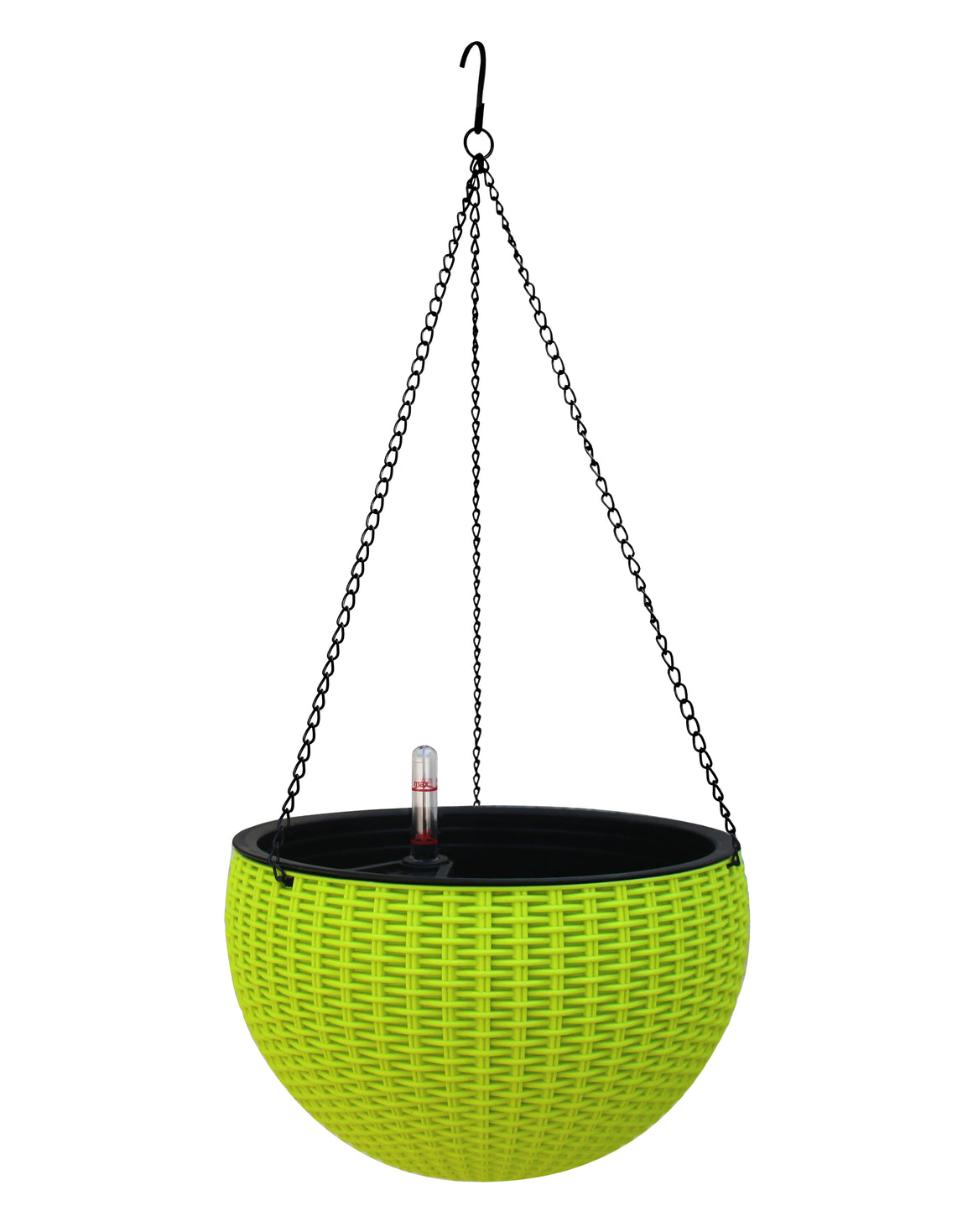 TABOR TOOLS Self-Watering Hanging Planter with Water Level Indicator Gauge (Green)