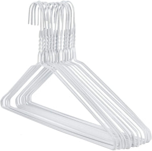 Lot de 10 cintres blanc plastique