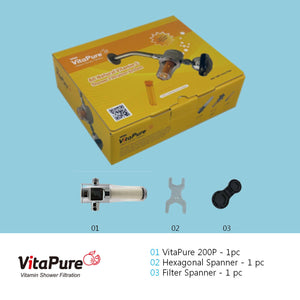 [SUF-200P] VitaPure inline PureMax water filter for a shower