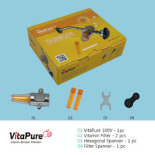 Load image into Gallery viewer, [SUF-100V] VitaPure inline Vitamin C water filter for a shower