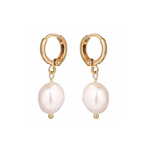 Ava Pearl Sleeper Earrings