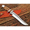 Image of Custom Handmade Bowie Knife With Leather Sheath