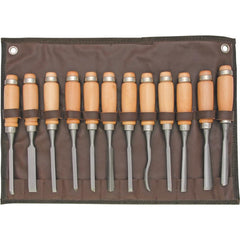SteeleX 12 Piece Carving Chisel Set