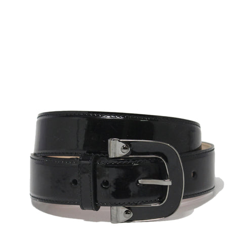 Bally Cacao Patent Adjustable Mens Belt