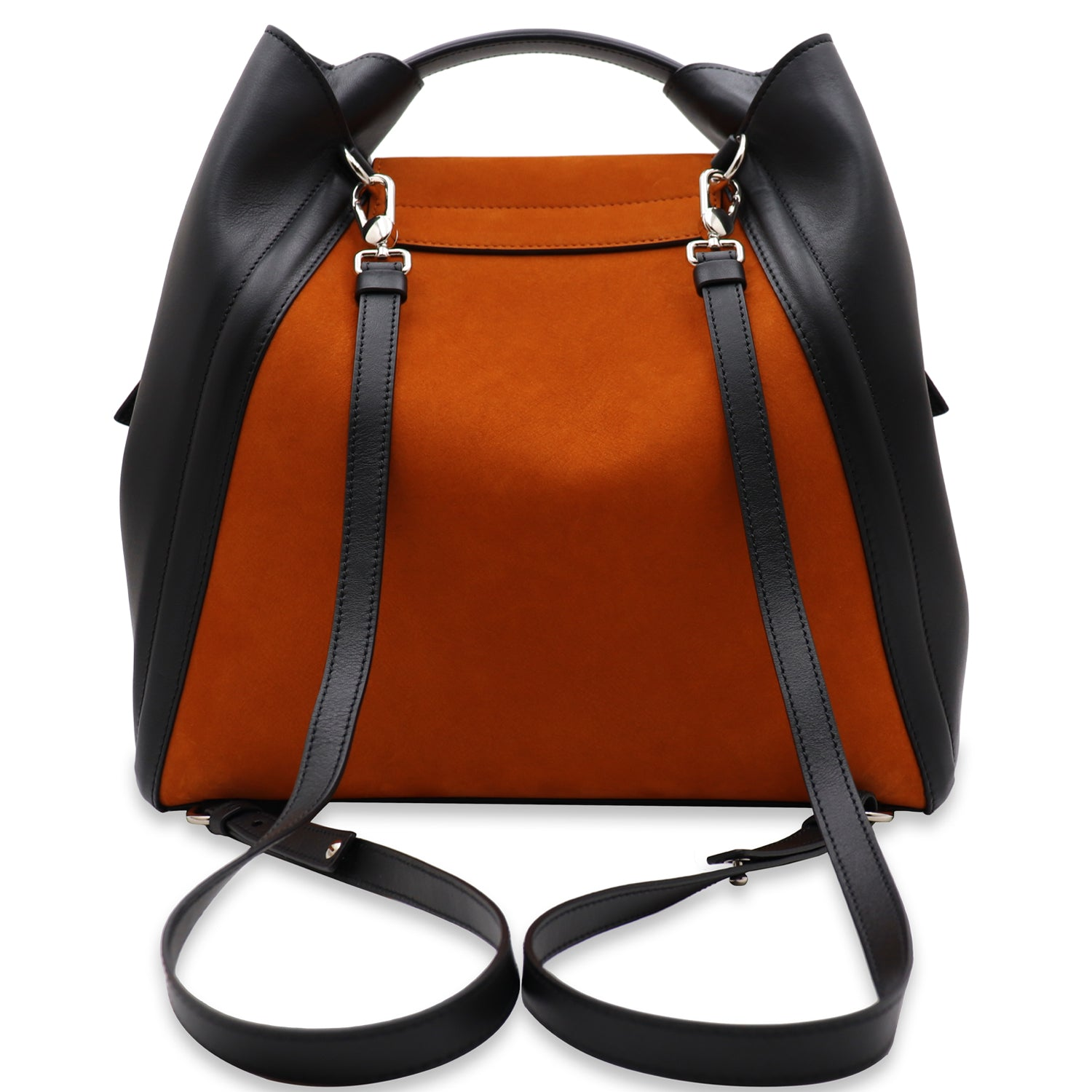 FANIE RUST NUBUCK LEATHER BACKPACK