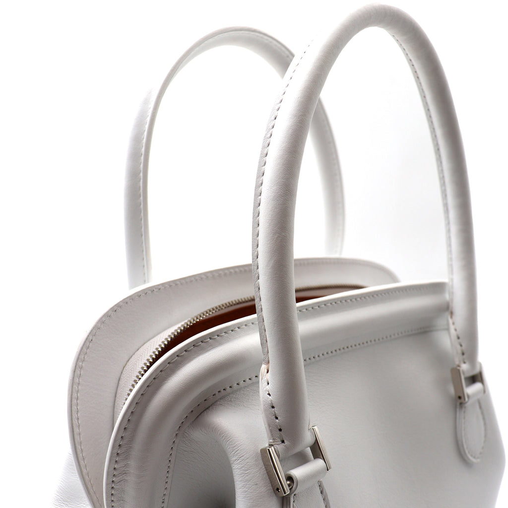 MELIME WHITE CALFSKIN LEATHER TOTE