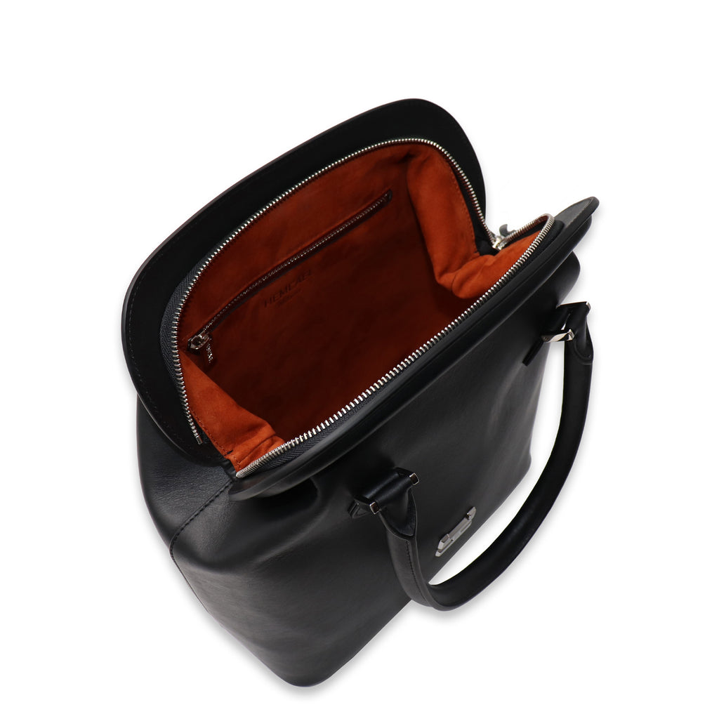 MELIME BLACK CALFSKIN LEATHER TOTE