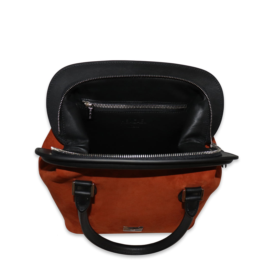 MELIME RUST NUBUCK LEATHER TOTE
