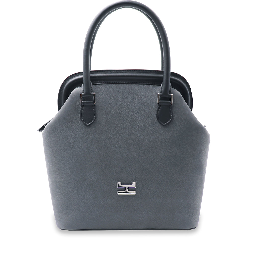 MELIME GRAY NUBUCK LEATHER TOTE