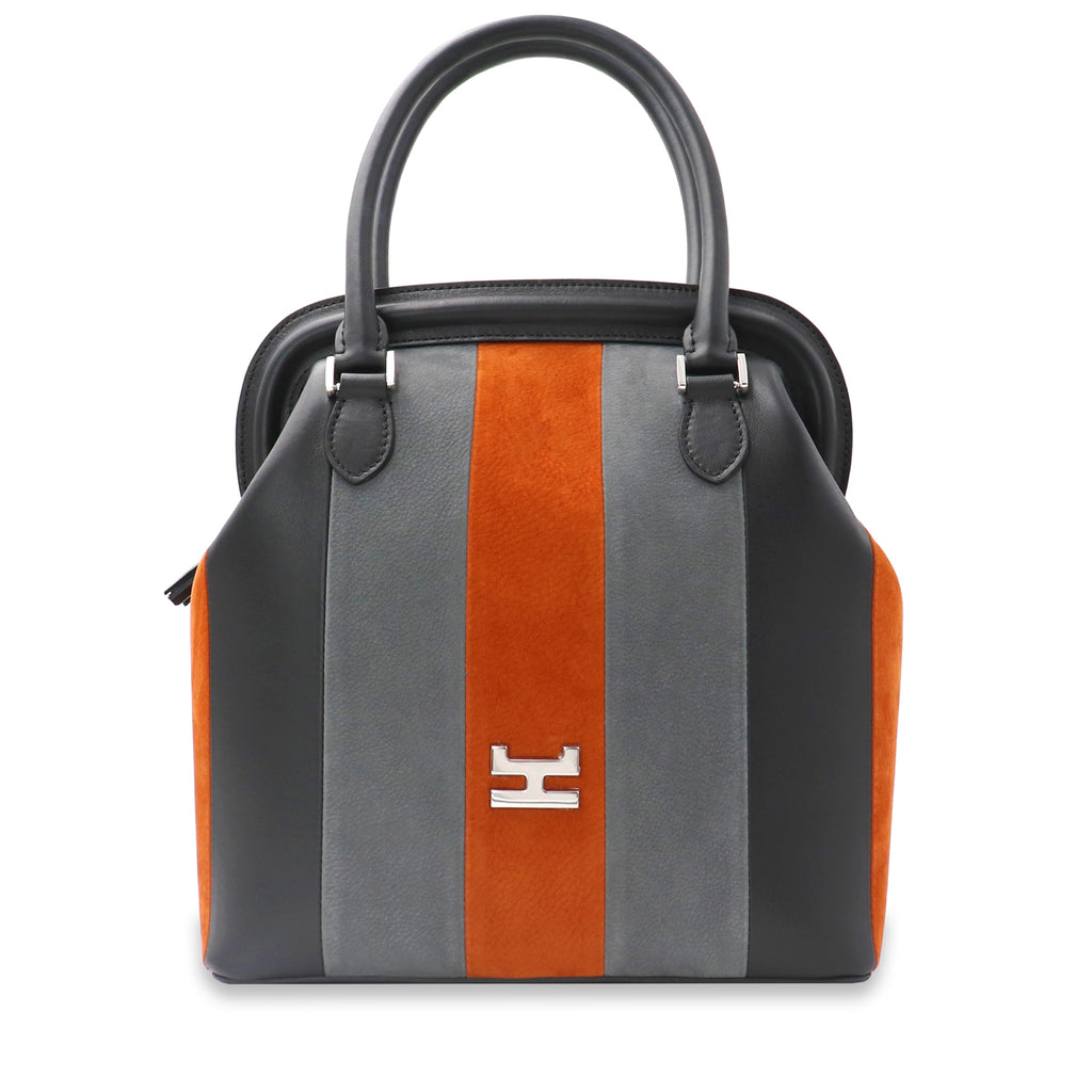 MELIME CAEL NUBUCK AND CALFSKIN LEATHER TOTE