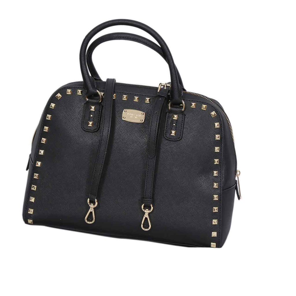 MICHAEL KORS SANDRINE STUDDED LEATHER SATCHEL