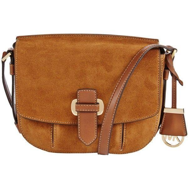 1584ef2667a3 Michael Kors Romy Medium Suede Crossbody Messenger Bag-Online India ...