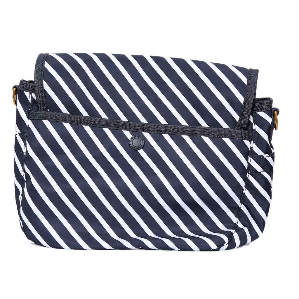 TORY BURCH SCOUT STRIPE NYLON CROSS-BODY MINI SATCHEL - REGATTA