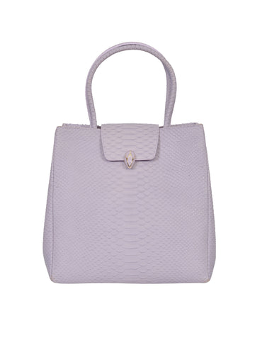 F.E.V BY FRANCESCA VERSACE SNAKESKIN LEATHER CITY TOTE BAG
