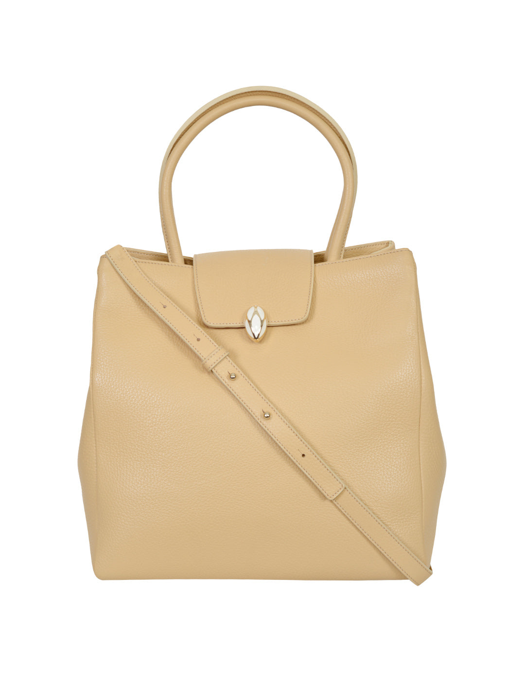 F.E.V BY FRANCESCA VERSACE LEATHER CITY TOTE BAG