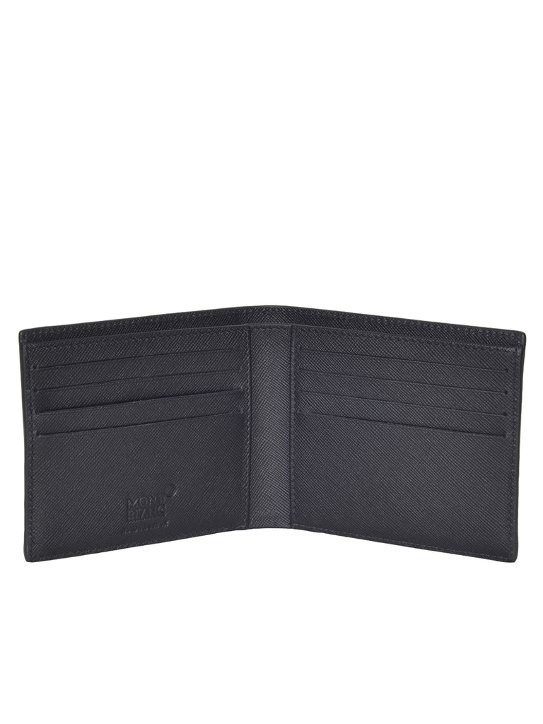MONT BLANC MEN'S  Signature Black Nylon 8CC Wallet