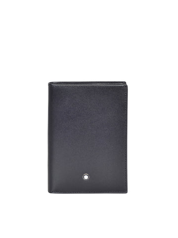 MONT BLANC MEN'S Meisterstück 4CC LEATHER BUSINESS CARD CASE