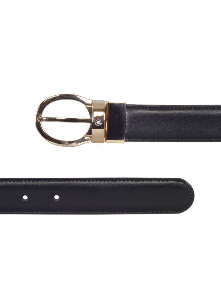 Montblanc Men's Classic Line Reversible Leather Buckle Belt