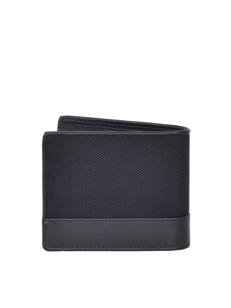 MONT BLANC MEN'S  Signature Black Canvas 6cc Wallet