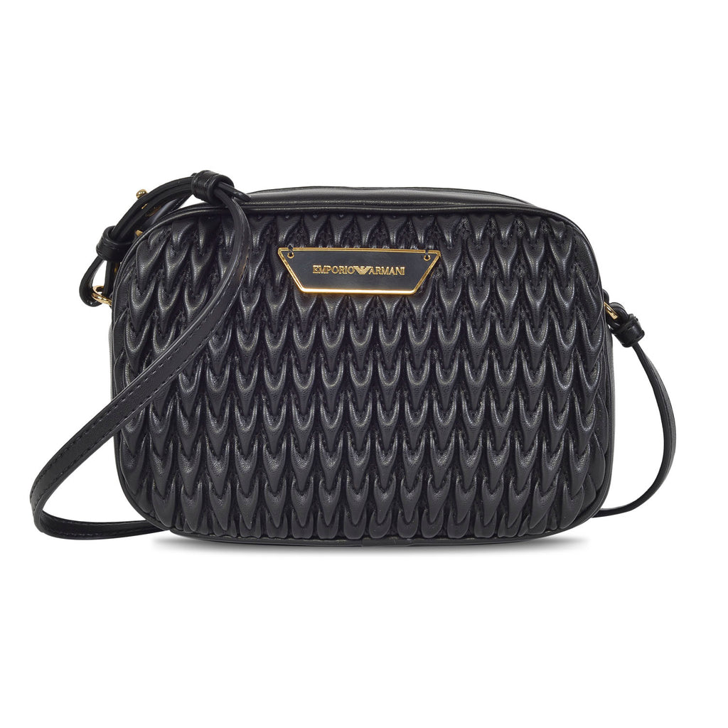 EMPORIO ARMANI DESIGNER WOMEN'S LEATHER QUILTED MINI SLING BAG