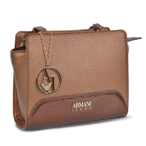 ARMANI DESIGNER WOMEN'S LEATHER CROSSBODY BAG with AJ charm