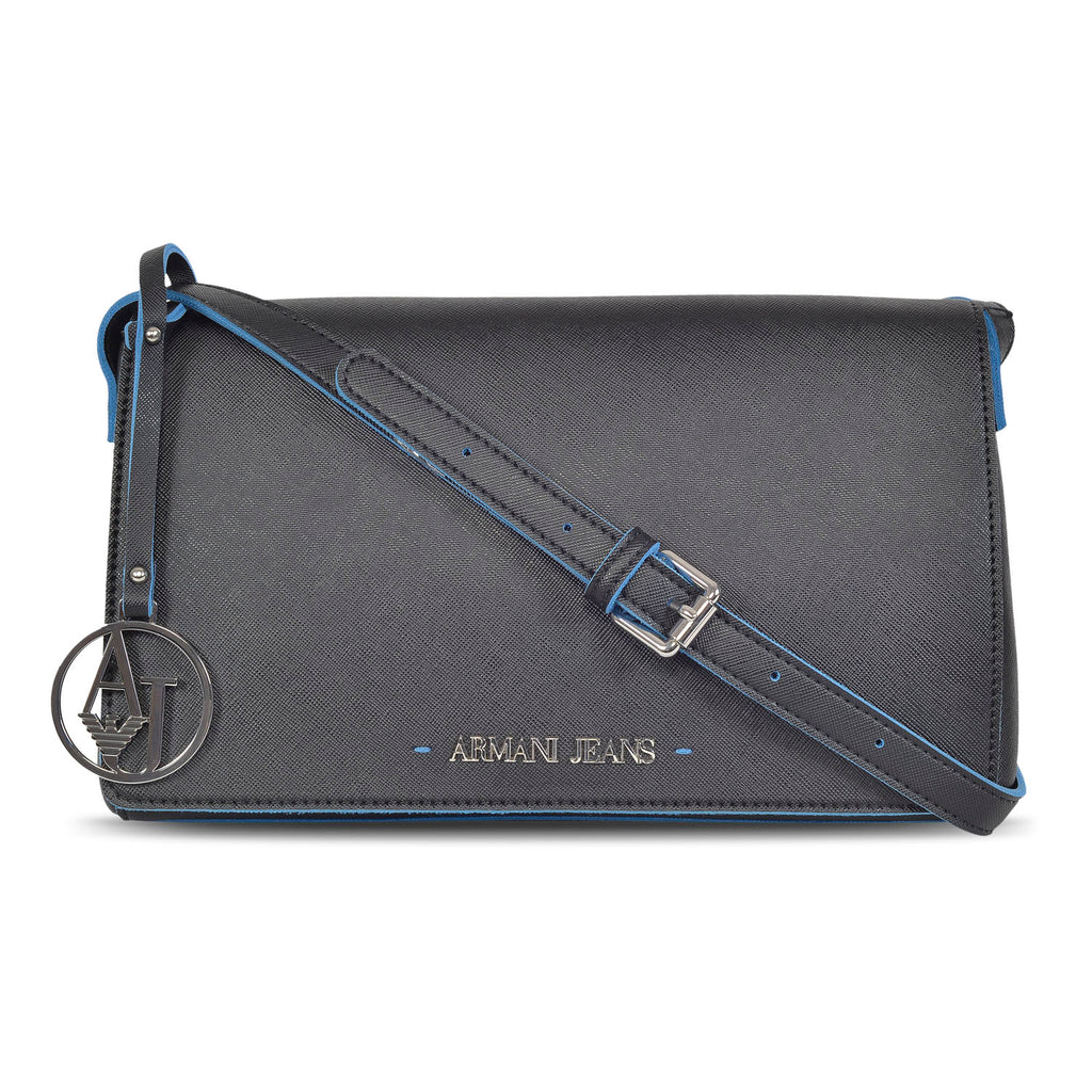 ARMANI DESIGNER WOMEN'S LEATHER Sling BAG with AJ charm