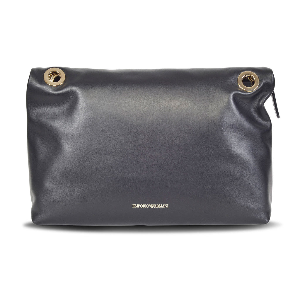 EMPORIO ARMANI DESIGNER WOMEN'S LEATHER FLAP BAG