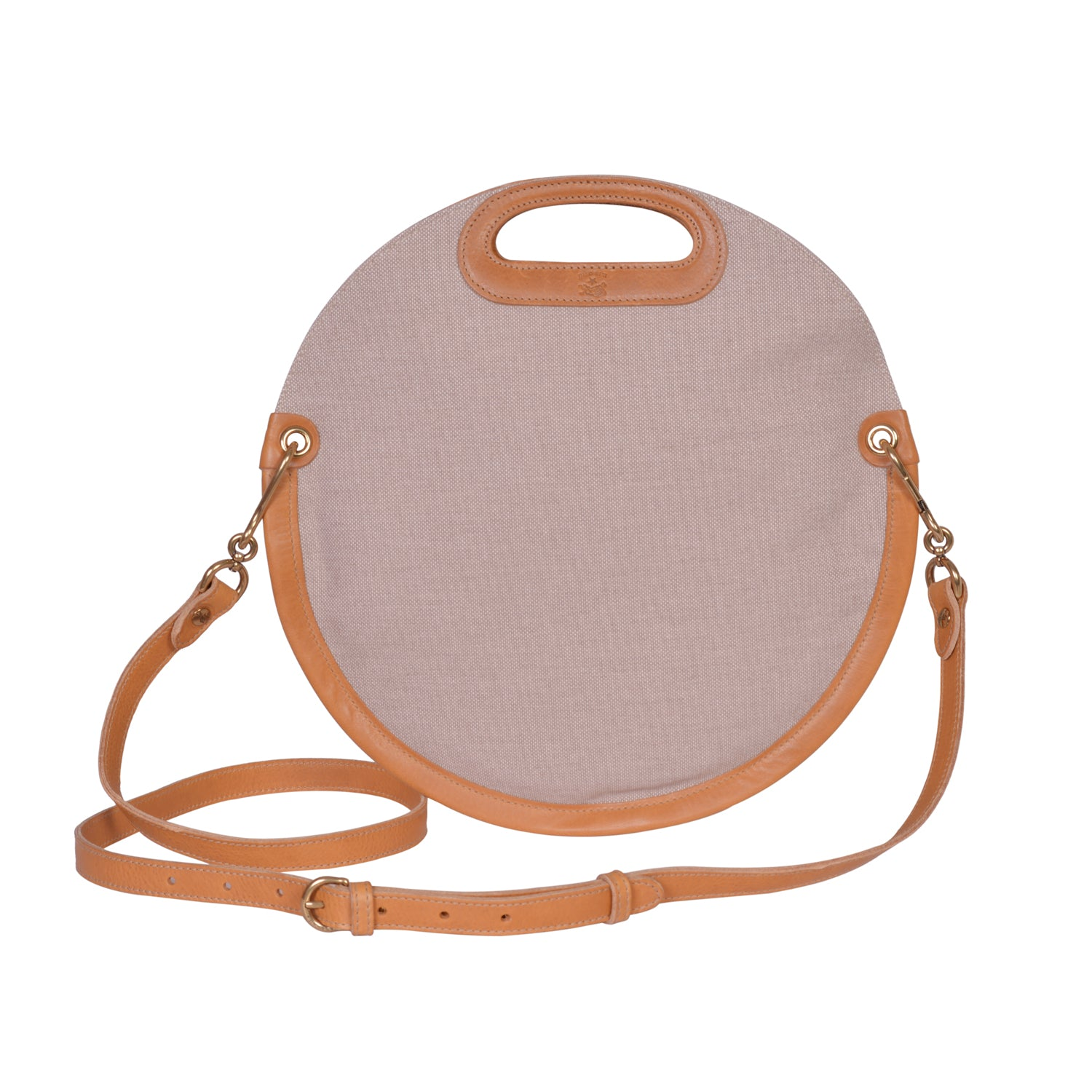 IL BISONTE  CASUAL WOMAN'S CIRCULAR HANDBAG IN NATURAL TECHNICAL FABRIC