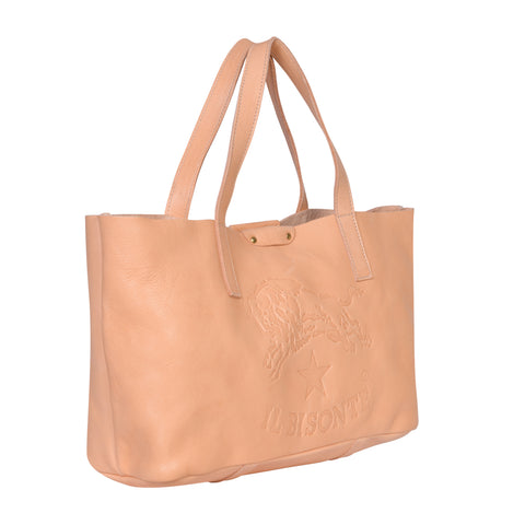 IL BISONTE  PITTI WOMAN'S TOTE BAG IN OLIVE COWHIDE LEATHER