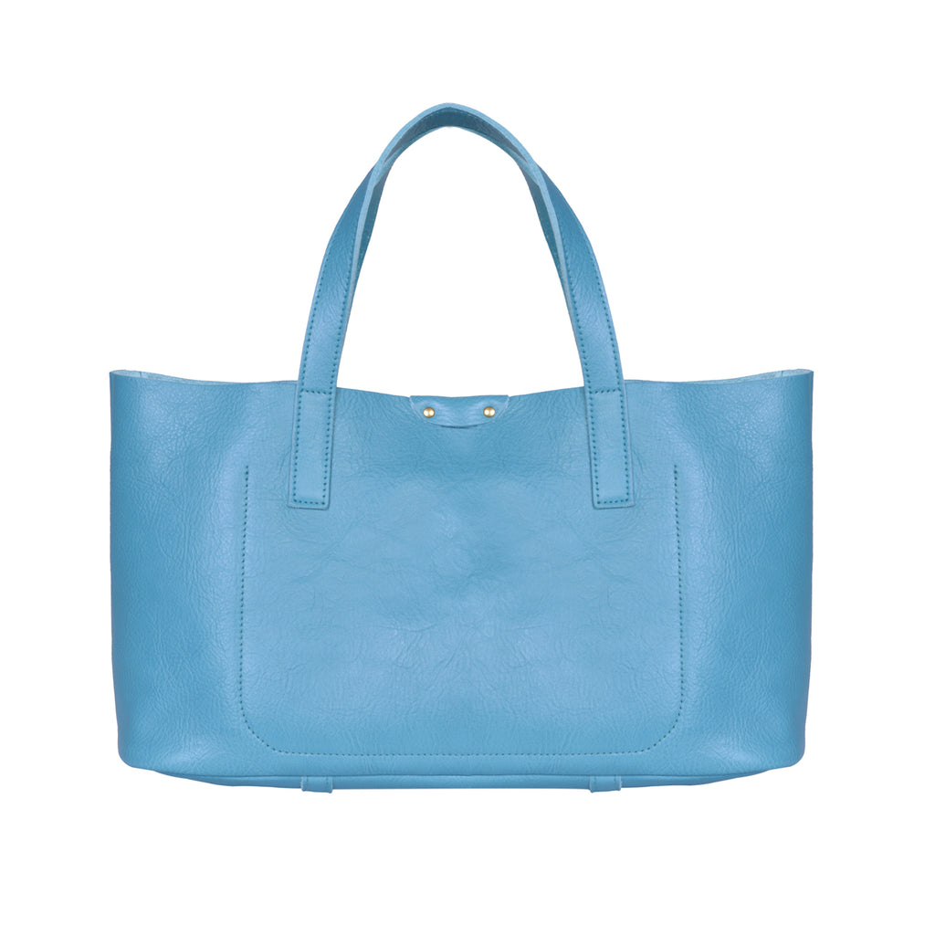 IL BISONTE  PITTI WOMAN'S TOTE BAG IN TURQUOISE COWHIDE LEATHER