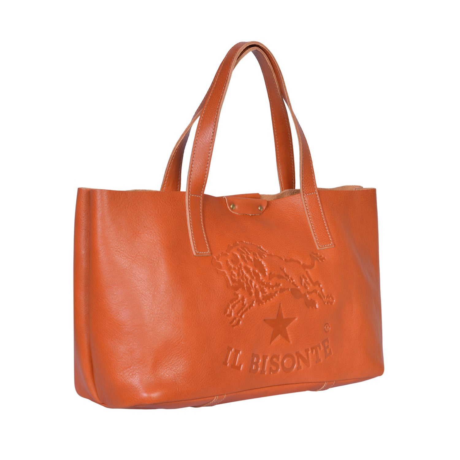 IL BISONTE  PITTI WOMAN'S TOTE BAG IN NATURAL COWHIDE LEATHER