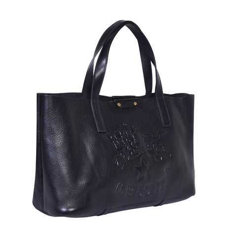IL BISONTE  PITTI WOMAN'S TOTE BAG IN CARAMEL COWHIDE LEATHER