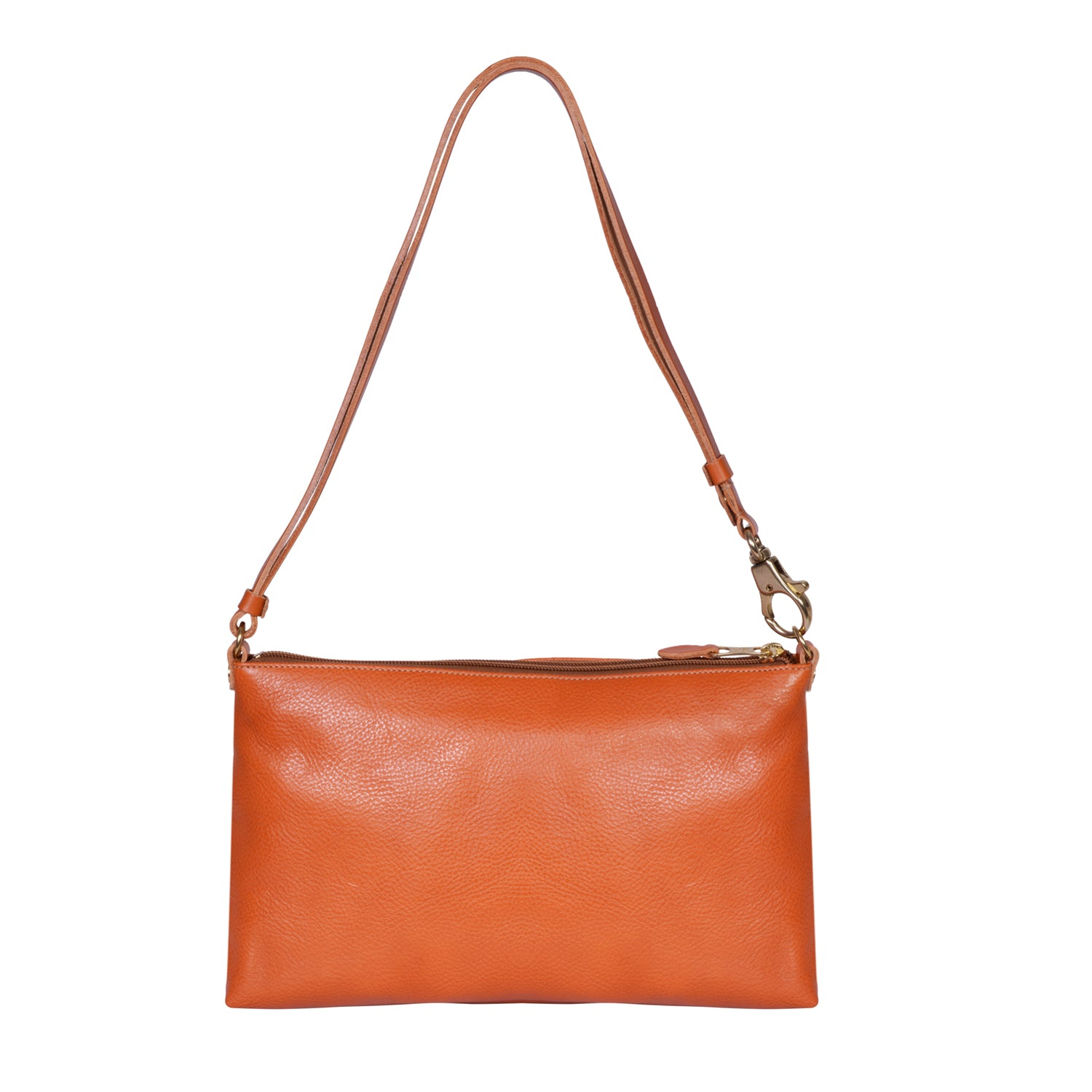 IL BISONTE  WOMAN'S  SHOULDER BAG  IN CARAMEL COWHIDE LEATHER