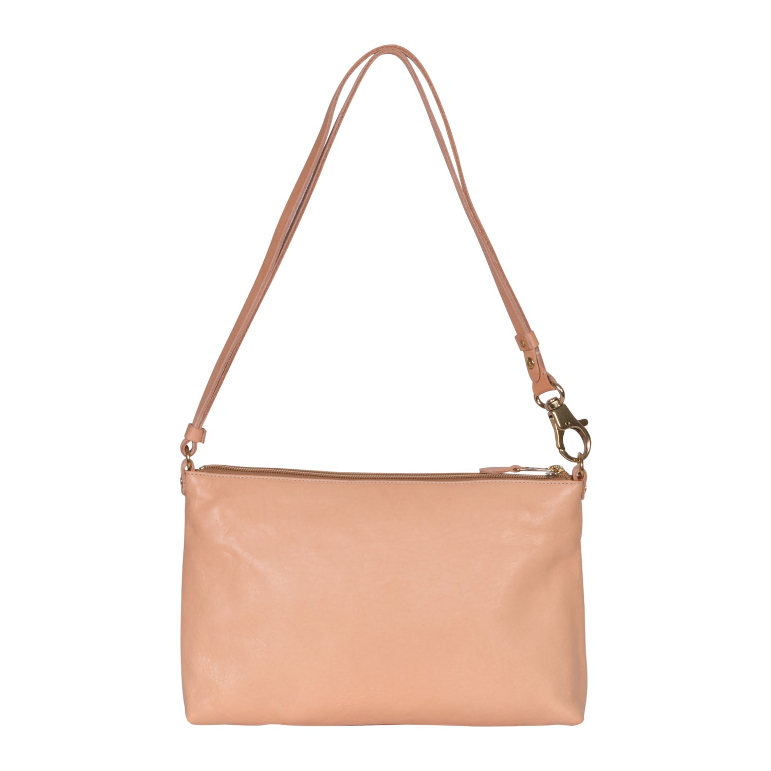 IL BISONTE  WOMAN'S  SHOULDER BAG  IN BEIGE COWHIDE LEATHER