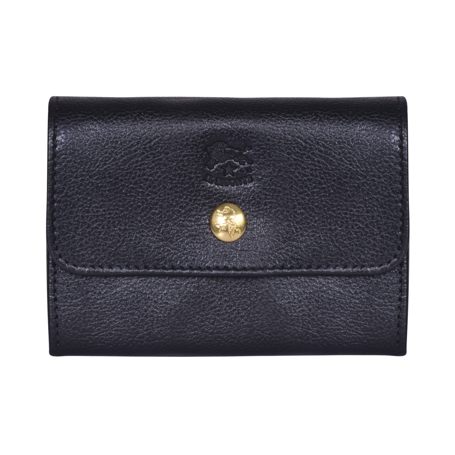 IL BISONTE LIBERTY WOMAN'S  WALLET  IN BLACK GRAIN COWHIDE LEATHER