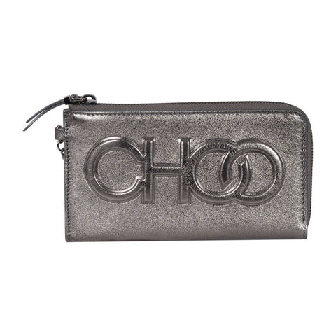 Jimmy Choo adelia shoulder bag in anthracite calfskin leather. | Shop Luxury Handbag Online