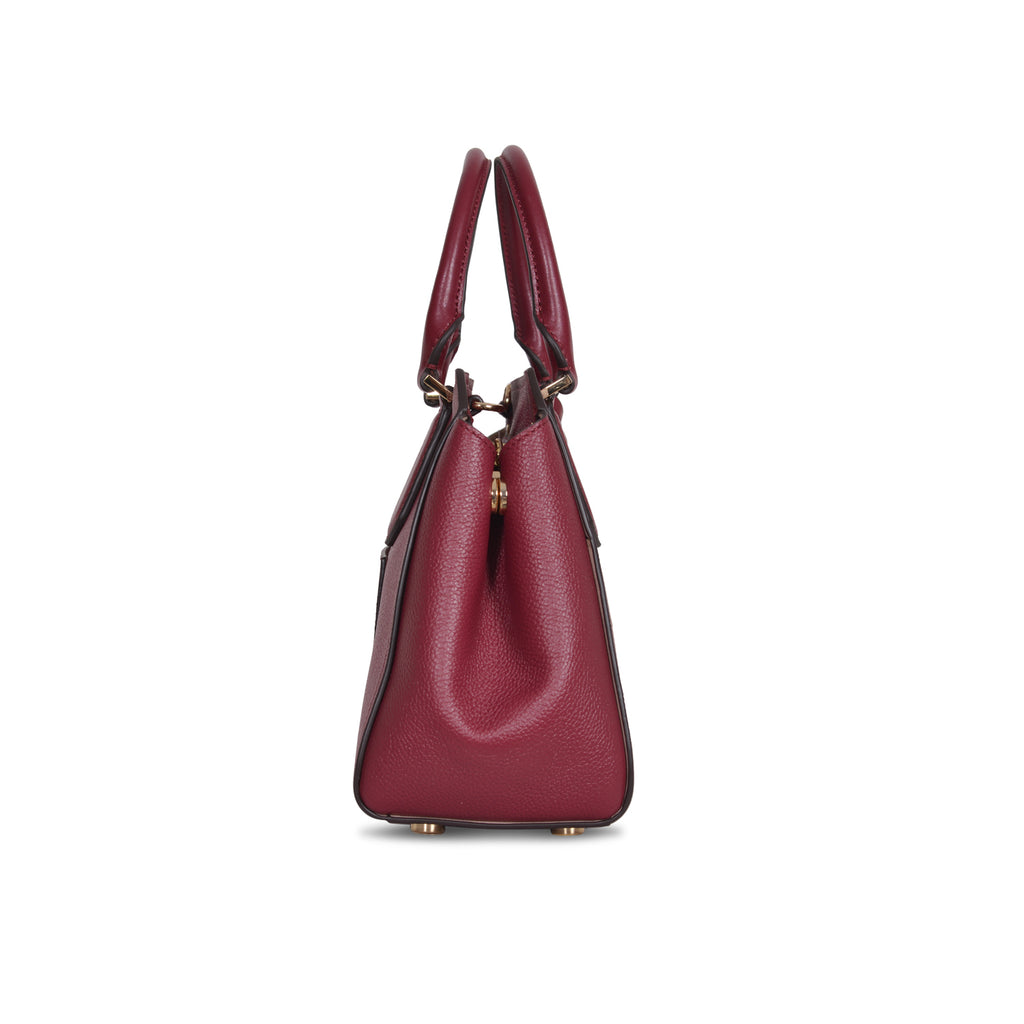 MICHAEL KORS HAYES LARGE MULBERRY LEATHER SHOULDER BAG