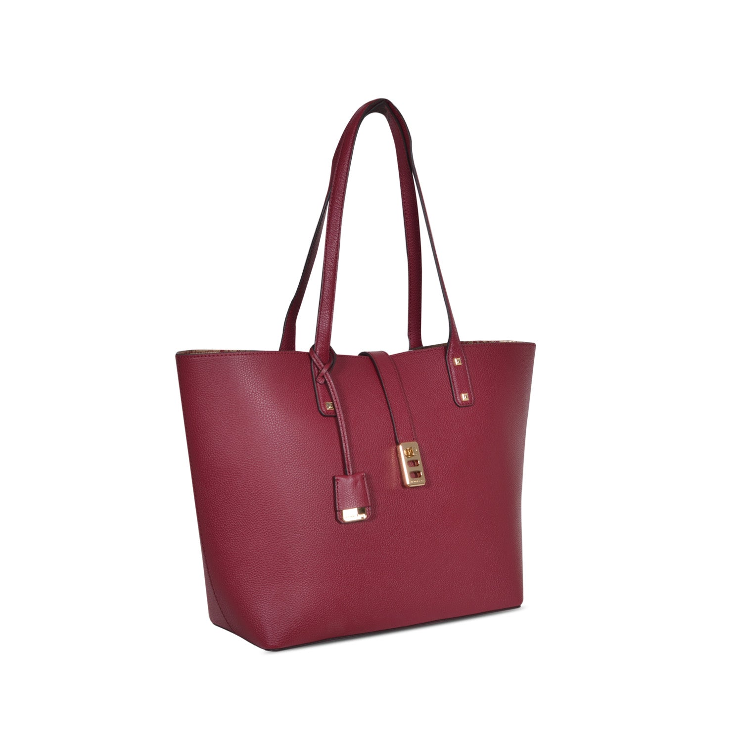c522cfbd69d ... MICHAEL KORS KARSON LARGE MULBERRY LEATHER CARRY-ALL TOTE BAG ...
