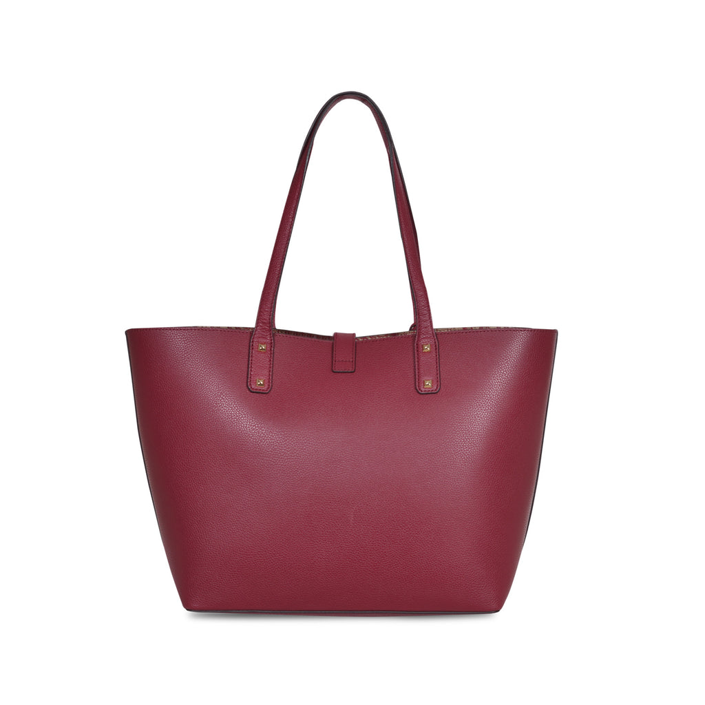 MICHAEL KORS KARSON LARGE MULBERRY LEATHER CARRY-ALL TOTE  BAG