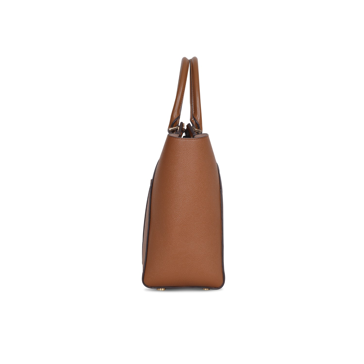 MICHAEL KORS HAYES LARGE BROWN LEATHER CONVERTIBLE TOTE SHOPPER